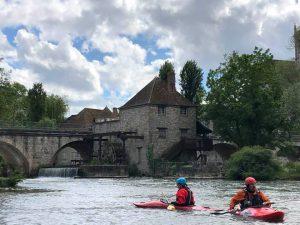 Kayak sur le Loing à Moret